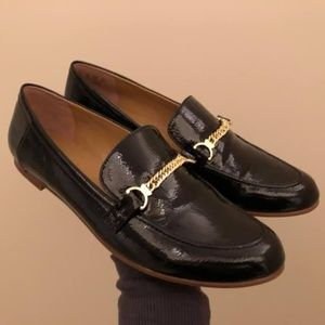 NWOT black faux-leather Franco Sarto loafers